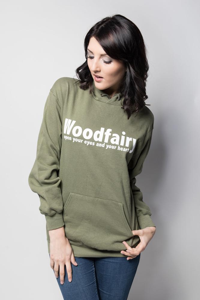 woodfairy hoodie olive